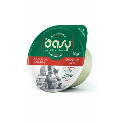 OASY Chicken with Duck / dopunska hrana za mačke piletina i patka 70g