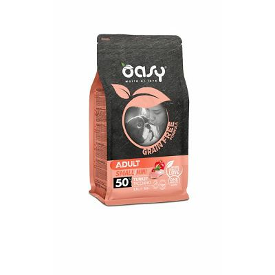 OASY grain free - hrana bez žitarica adult small puretina 2,5kg