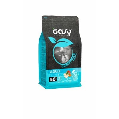 OASY grain free - hrana bez žitarica adult small riba 800g