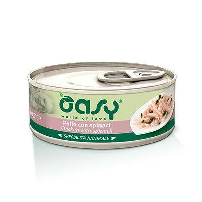 OASY hrana za mačke piletina sa špinatom 70g