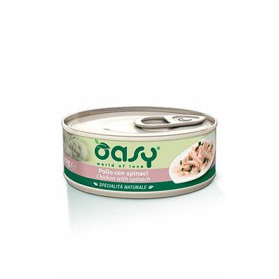 OASY hrana za mačke piletina sa špinatom 150g