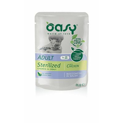 OASY Pouch / Adult STERILISED PILETINA 85g