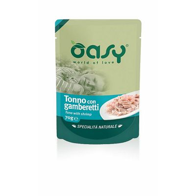 OASY Pouch Fileti / Adult TUNA & KOZICE 70g