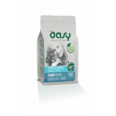 OASY Puppy & Junior small mini lamb / janjetina hrana za štenad 800g