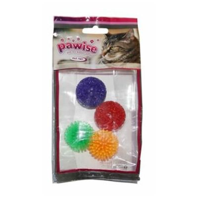Pawise Cat Toy loptice 4 kom