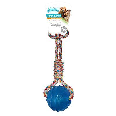Pawise Fetch & Play lopta-uže igračka za psa