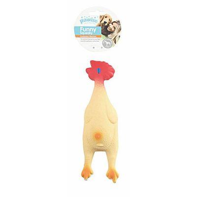 Pawise Funny Squeaky Chicken igračka za psa S