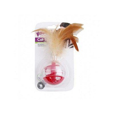 Pawise igračka lopta sa perjem za mace