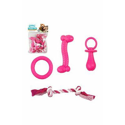 Pawise Puppy set igračaka za psa pink