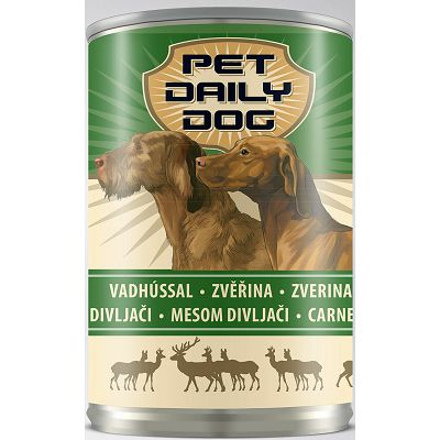 Pet Daily Dog / hrana za pse - divljač 415g