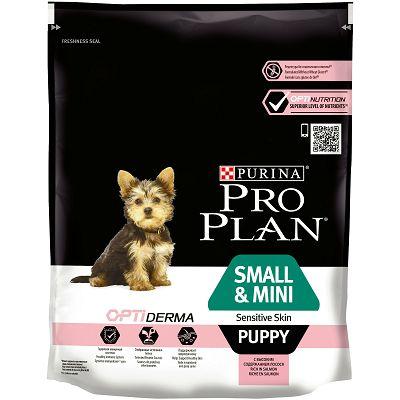 Pro Plan Puppy Small/Mini, Sensitive Skin, hrana za male pse sa lososom 700g