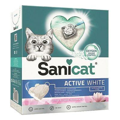 Sanicat active lotus bijeli pijesak za mačke 6 L
