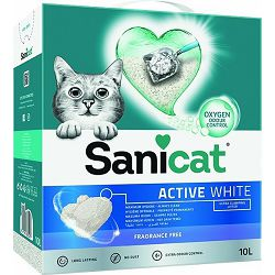 Sanicat Active White bijeli pijesak za mačke 10l
