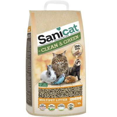Sanicat Clean & Green Pelet 10l