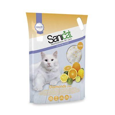 Sanicat Diamonds Citric pijesak za mačke 5L