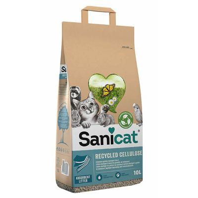 Sanicat Eco Clean & Green celulozni posip/podloga za mačke, ptice i glodare 10 L