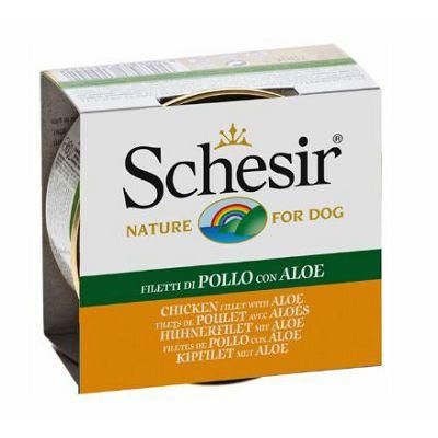 Schesir hrana za pse piletina file i aloe 150g
