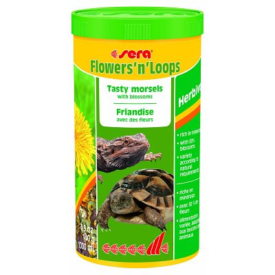 Sera Flowers' noLoops hrana za kornjače i reptile 1000ml