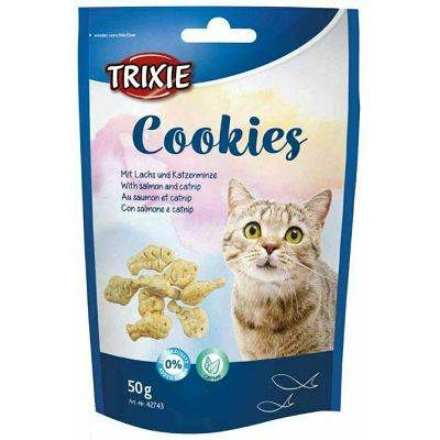 Trixie Cookies kolačići poslastica za mačke sa lososom i macinom travom 50g