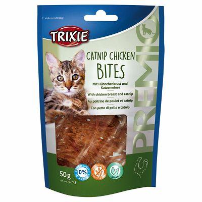 Trixie Premio Catnip Chicken Bites / piletina file i macina trava poslastica za mačke 50g