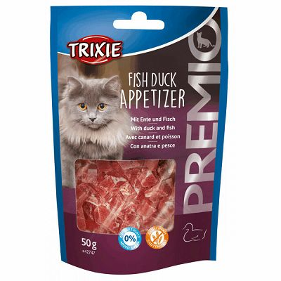 Trixie Premio Fish Duck Appetizer / patka i riba poslastica za mačke 50g
