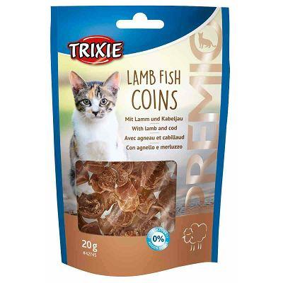 Trixie Premio Lamb Fish Coins / janjetina i riba poslastica za mačke 20g