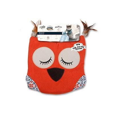 All for Paws Owl Cat Sack ležaljka za mačke orange