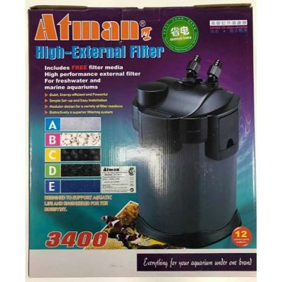 Atman UF-3400 vanjski filter za akvarij 2200l/h