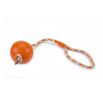 Beeztess orange gumena lopta sa užetom