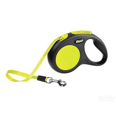 Flexi povodac za pse Neon S 5m cord
