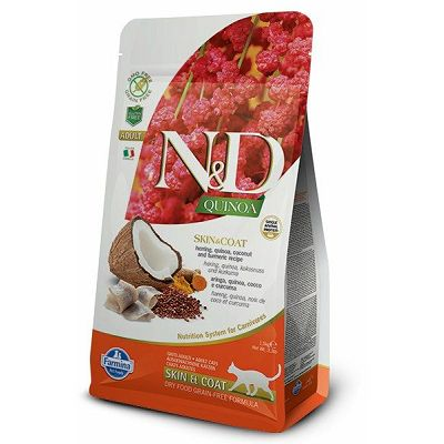 N&D Adult Quinoa Skin & Coat hrana za mačke 1,5kg
