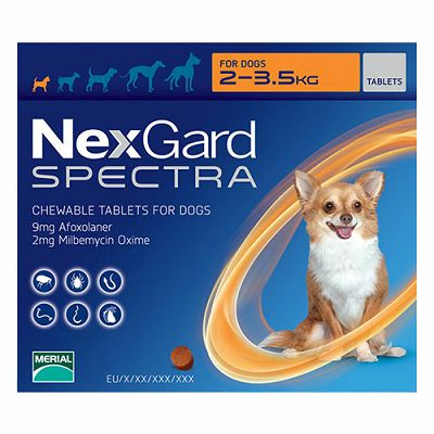 Nexgard Spectra XS // 2-3,5kg
