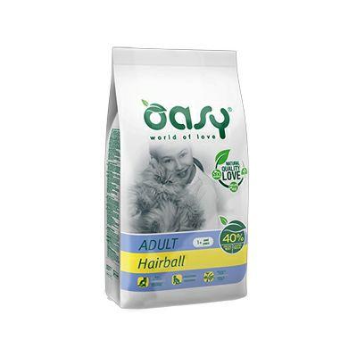 OASY Suha hrana za odrasle mačke HAIRBALL, 1.5 kg