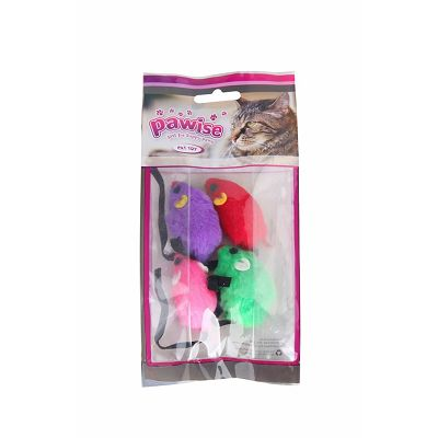 Pawise Cat Toy Mouse igračka za mačke 4 kom