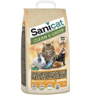 Sanicat Clean & Green Pelet za mačke 10l