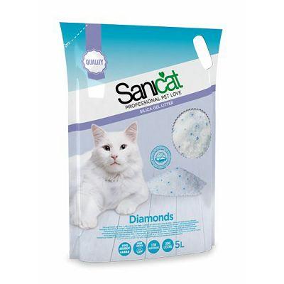 Sanicat Professional Silica Diamonds 5 L pijesak za mačke