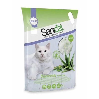 Sanicat Diamonds Aloe Vera pijesak za mačke 5l